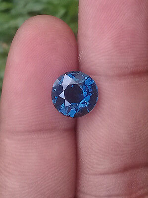 Cobalt fire Blue Spinel 4.01 CT / Round 9.4 MM  /100% Clean /Top luster