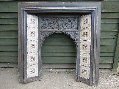 Victorian Cast Iron Fireplace Insert
