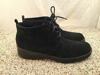 Women's Keds Relax Black Cute Ankle Boots Lace Up sz 8.5