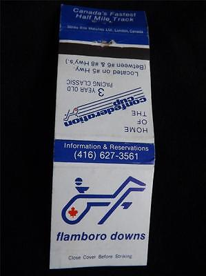 Flamboro Downs Horse Race Track Confederation Cup Matchbook Ont Canada Casino