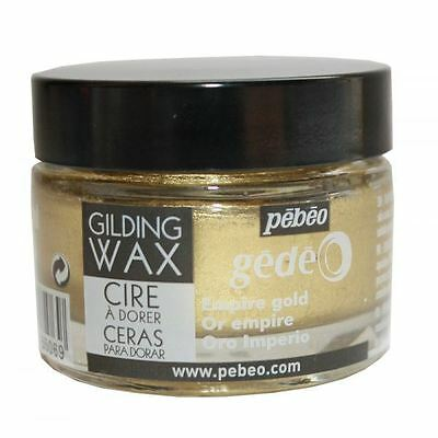 Pebeo Gedeo Gilding Paper Craft Emboss Rub Wax 30ml Tub Pot - Empire Gold