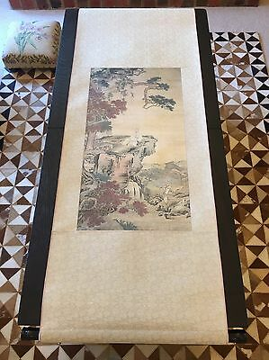 Japanese Hanging Scroll Art Artwork Painting Landscape Blossom Japan Asian Asia