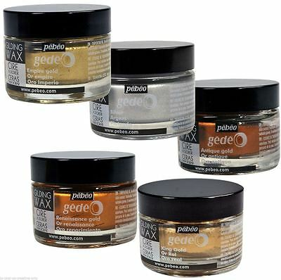 *OFFER* Pebeo Gedeo Gilding Paper Craft High Quality Wax 30ml Tub Pot RANGE!