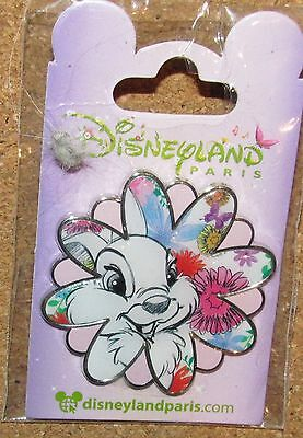 Pin Disney Paris Disneyland Thumper Flower Rare Bambi