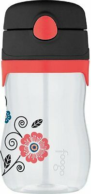 THERMOS FOOGO 11-Ounce Straw Bottle, Poppy Patch Pattern BP5352PP6 Thermos