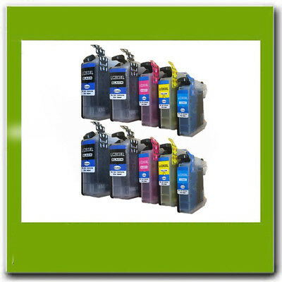 10Pk Non-Oem Brother Lc201 Lc203Xl Ink Cartridge For J4620Dw J480Dw J485Dw