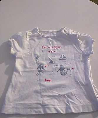 T-shirt manches courtes fille 6 mois neuf