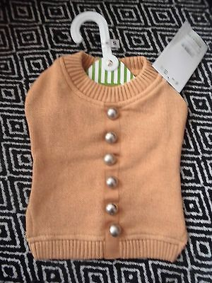 Vêtement Tee shirt pull gilet marron pour chien chihuahua taille XS *NEUF*