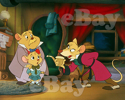 Rare WALT DISNEY'S THE GREAT MOUSE DETECTIVE Cartoon Color 8 X 10 Photo