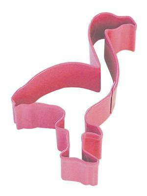 Flamingo Cookie Biscuit Cutter 10.2cm Pink Polyresin Metal Pastry Dough