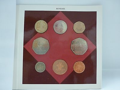 1993 United Kingdom Brilliant Uncirculated Coin Collection 8 coins Original Pack