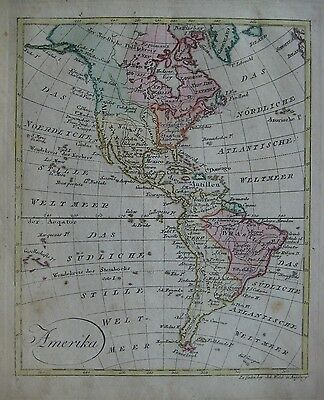 Original 1803 Map AMERICAS Louisiana Florida Mexico United States Cuba Patagonia