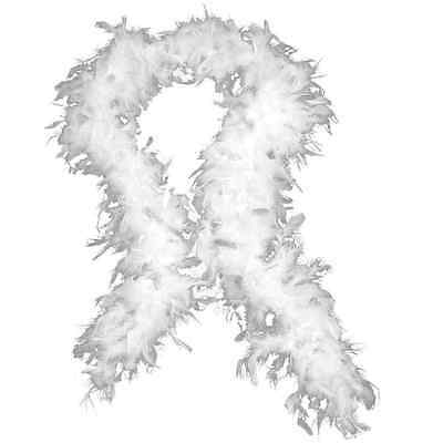 Feather Boa 80g White feather boa indeal for hen parties burlesque and fancy dre