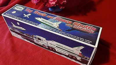 1999 HESS TOY TRUCK AND SPACE SHUTTLE WITH SATELLITE NEW IN BOX! Batteries too!