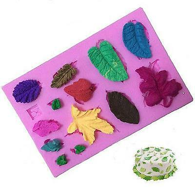 Mini Leaves Silicone Mould Baking Tool Cake Icing Fondant Decoration Mold - CB