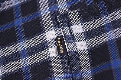 Vintage Levi's big E Blue Plaid Pants 35x32 Black Tab w/ Gold Lettering 1950-60s