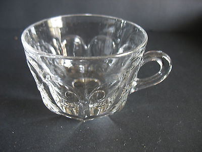 6  Heisey Colonial Cut Base Punch Cup 1907-1956 Diamond H mark