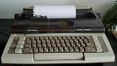 Smith-Corona Memory Correct Electric Typewriter, with Large Case Works Great!