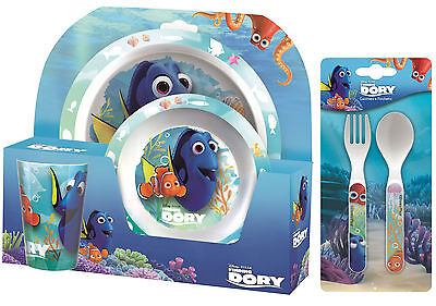 Disney Finding Dory Nemo 5pc Tumbler, Bowl, Plate Set & Cutlery Meal Time