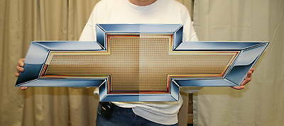 New GM CHEVROLET Chevy Bowtie 2010  34x11  - Metal Sign - PhotoSTEEL