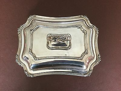 Silverplated Entree Dish With Cover.