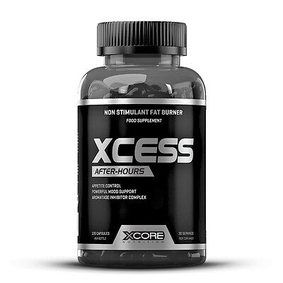 XCESS After-Hours 120 caps - Xcore - Bruciagrassi