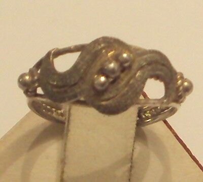 Excellent Early 20Th Century Silver Ring With Open-Work // 887