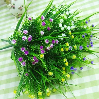 Green Artificial Fake Plastic Flower Grass Plants Home Wedding Decoration
