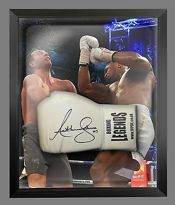 New Anthony Joshua Vs klitschko Signed White Boxing Legends Glove In A Dome - A