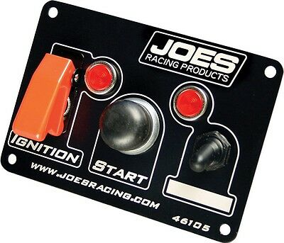 JOES RACING PRODUCTS Black/White 5 x 3-1/2 in Dash Mount Switch Panel P/N 46105