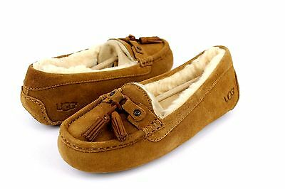 a641a225a92 UGG LITNEY SUEDE Shearling Chestnut Fully Lined Slippers Size 7 Us