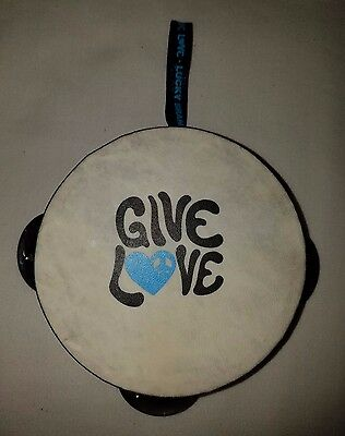 Lucky Brand Give Love Small Promotion Tambourine Preowned Hippie Boho!