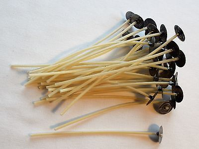 🔥10cm Candle Pre-Waxed Cotton Wicks Pre-Tabbed For Home Candle Making 1000pcs
