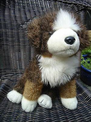 Retired 2002 Ty MUGSY Bernese Mountain Brown & White Dog Plush