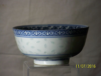 Chinese Qing Dy Guangxu Reign Rice Grain Eggshell Porcelain Hand Painted Bowl