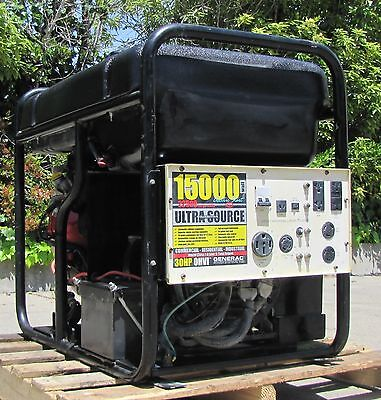 Generac 15kw Generator 30hp Gasoline Engine 120/240V Output 15000 watt