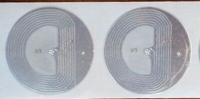 EAS Shoplifting 2,000 Checkpoint® Compatible 33MM RF Label 8.2MHz Round Clear