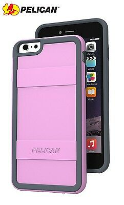 Pelican ProGear Protector Case for iPhone 6 Plus 6S Plus Light Pink Grey NEW