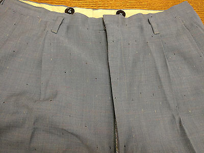 1950s Atomic Fleck Trousers Baby Blue Rare Large Size! Hollywood Waist!