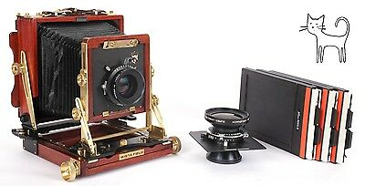 Wista 4X5 DXII field camera with 135mm + 90mm lenses + holders