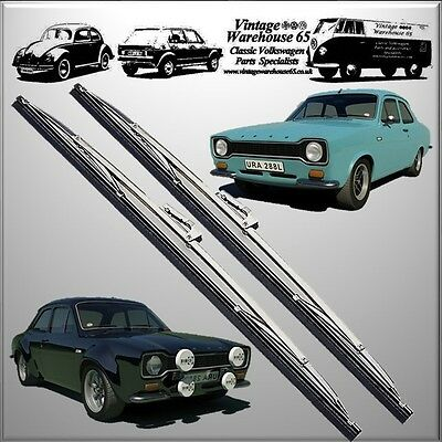 """Ford Escort Mk1 Saloon Estate Mexico RS2000 15"""" Stainless Steel Wiper Blades"""