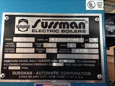 Sussman 24KW Electric Steam Boiler SSB48 - working pull from a lab on upgrade