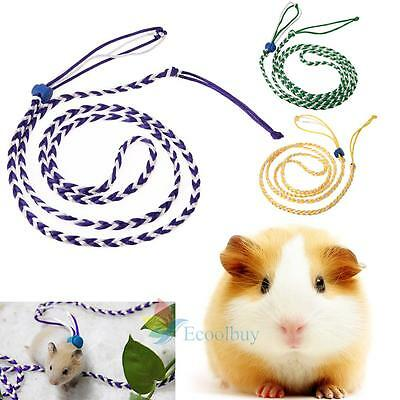 Adjustable Hamster Squirrel Lead Leash Pet Rat Mouse Harness Rope Band Cotton A