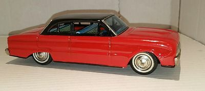 RESTORED Vintage 1961 FORD FALCON ~ Tin Friction Toy ~ Made by BANDAI in JAPAN
