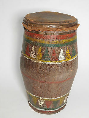 Vintage Filipino tribal Wood carved ceremonial Drum from Mindanao, Philippines