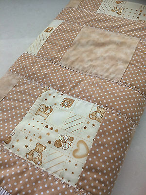NEW Handmade Baby Blanket/Quilt for Pram, Car, Kick mat neutral unisex