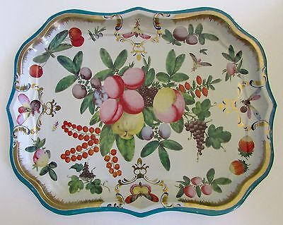 "Metropolitan Museum Tole Tray ""Duke of Gloucester"" English Worcester"