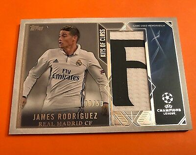 Topps Champions League Showcase 16-17 JAMES RODRIGUEZ Jumbo Patch 08/50