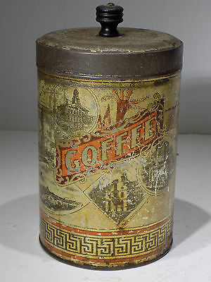 OLD ADVERTISING Tin,COFFEE Can FROM BOSTON MASS