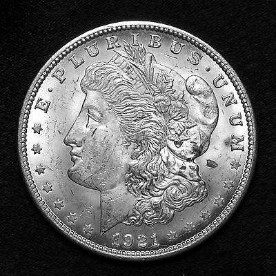 1921 P ~**ABOUT UNCIRCULATED AU**~ Silver Morgan Dollar Rare US Old Coin! #317